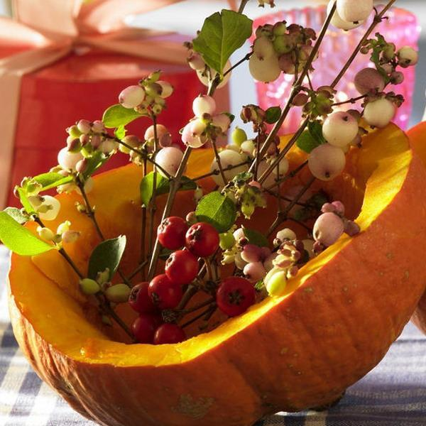 Small Thanksgiving Centerpiece Ideas : Natural halloween and thanksgiving table centerpiece ideas