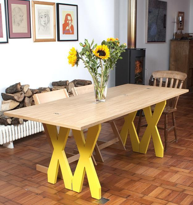 foldable dining table made of wood