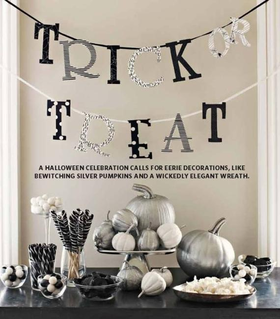 25 black white decorating ideas and halloween party table centerpieces