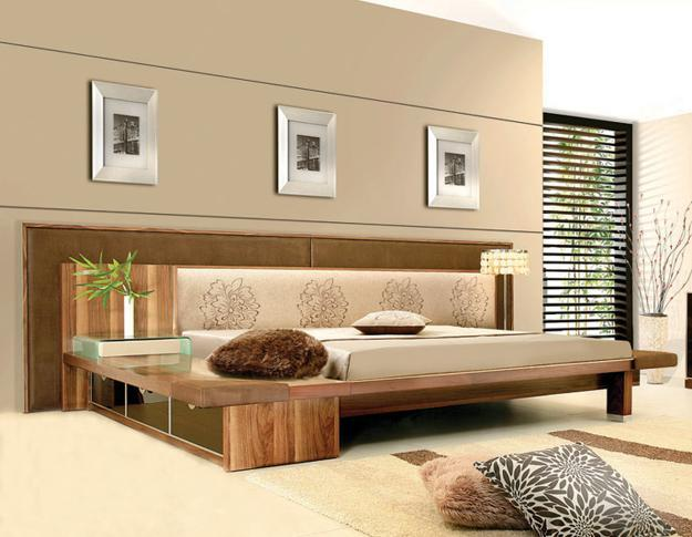 log furniture ideas. Solid Wood Bed Frame And Modern Bedroom Decorating Ideas In Contemporary Style Log Furniture