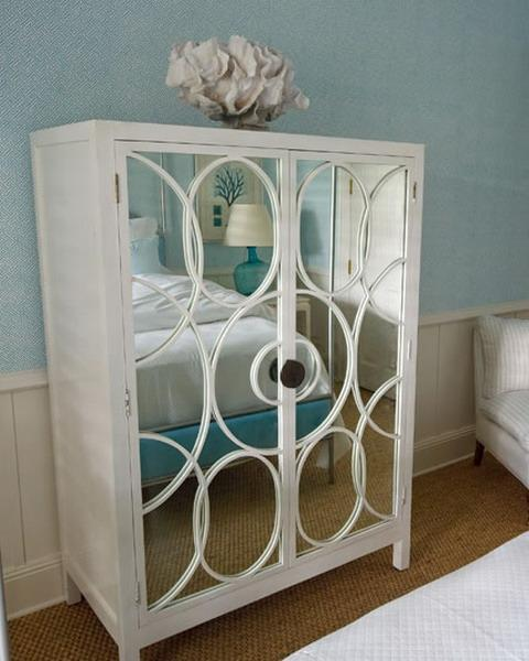 Bon Mirrored Cabinet With Wooden Frame Painted White