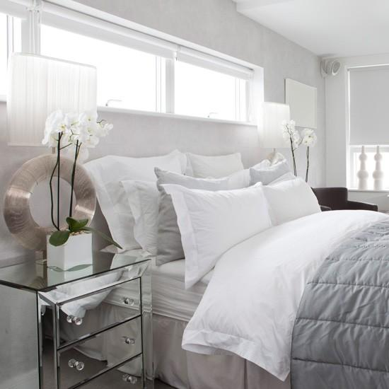 modern furniture with mirrors for room decorating