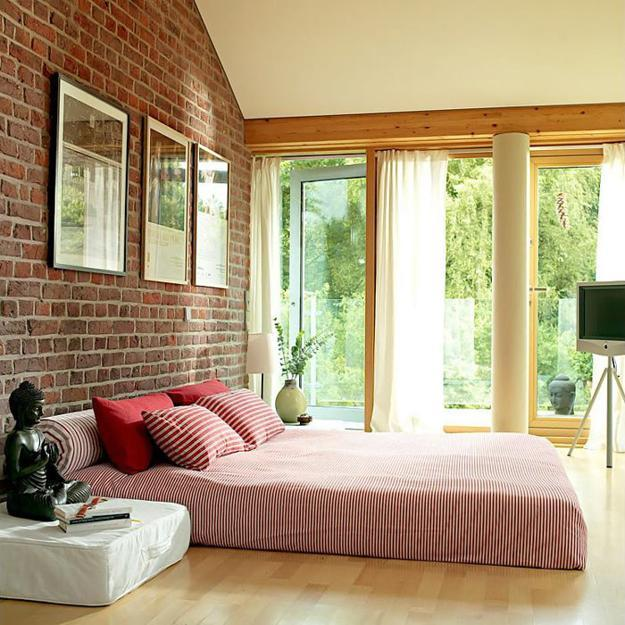 Modern House Blending Exposed Brick Wall Designs And
