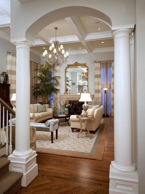 35 Modern Interior Design Ideas Incorporating Columns into Spacious ...