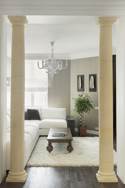 35 Modern Interior Design Ideas Incorporating Columns Into