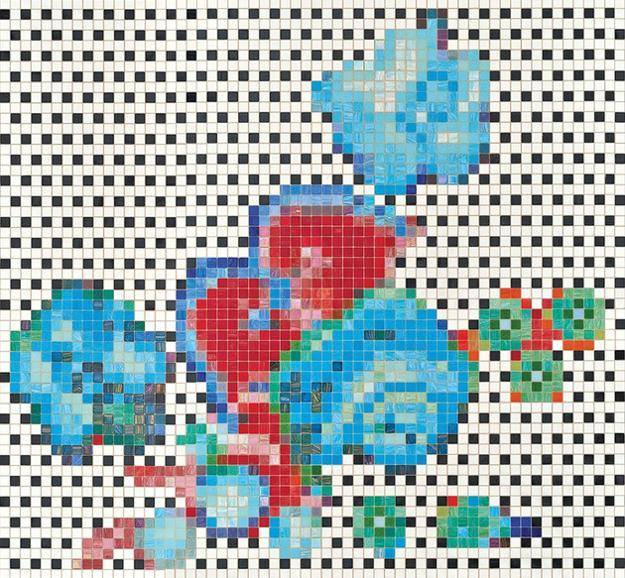 mosaic tiles with floral patterns for modern wall