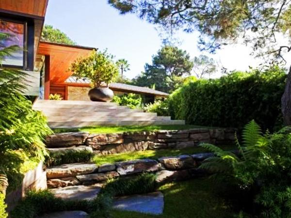 outdoor rooms and water features