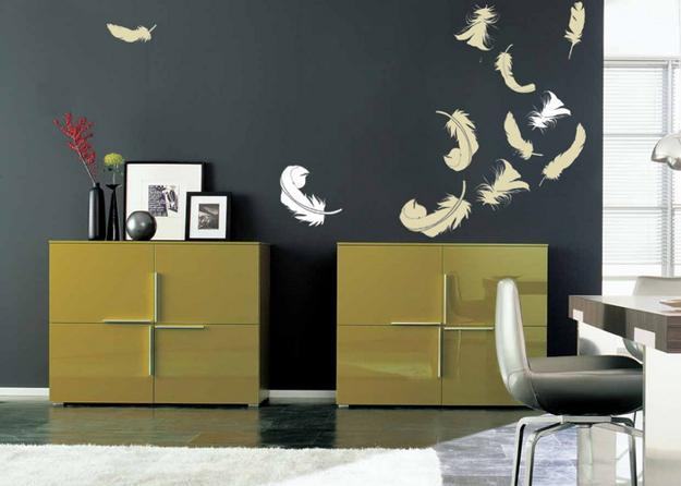 modern ideas for wall decorating, stencil designs