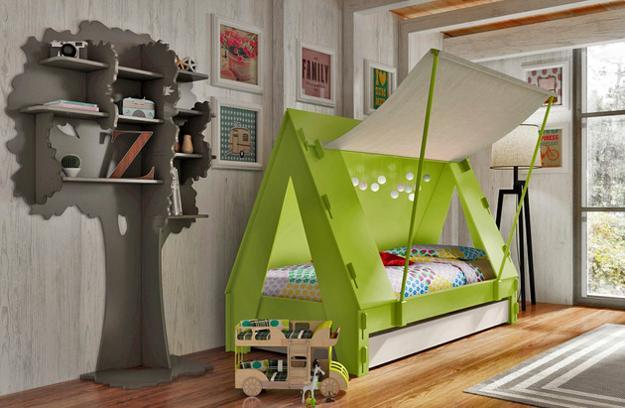 Tent Beds With Interior Lights For Kids Room Decorating