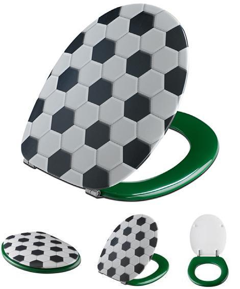 Nice Designer Toilet Seats And Covers, Soccer Ball Inspired Bathroom Accessories