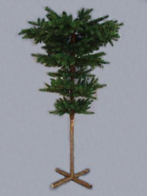 Upside Down White Christmas Tree