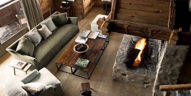 reclaimed wood used for modern interior design
