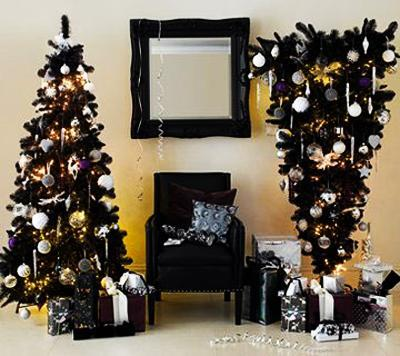 white christmas tree decorating ideas - Black And White Christmas Tree Decorations