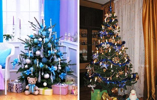 blue christmas tree decorating ideas adding cool elegance to winter holiday decor - Christmas Tree Blue