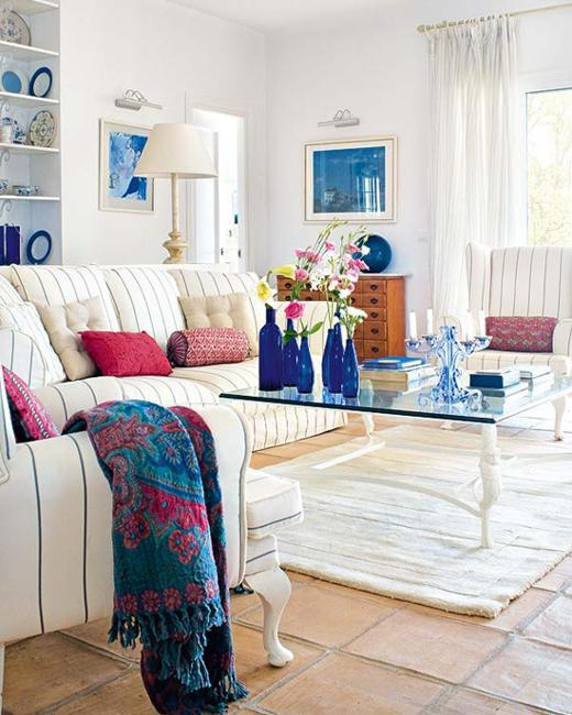 Blue Paint Color And Home Furnishings, Matching Colors For