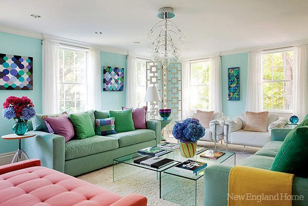 3 Blue and Green Color Schemes Creating Spectacular Interior ...