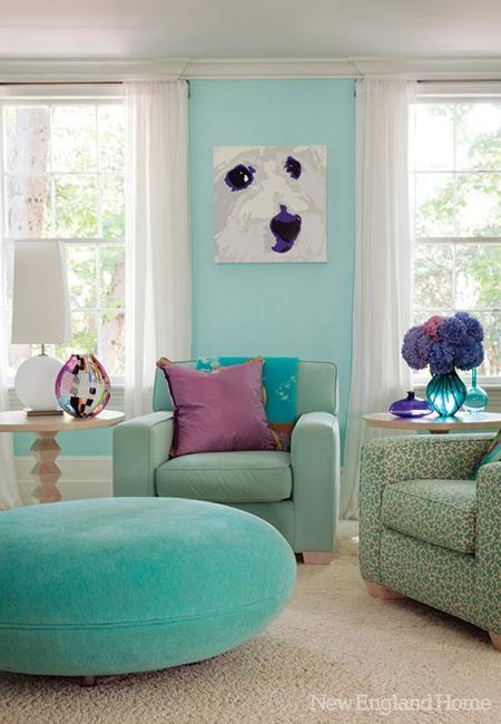 Blue Color Decoration Ideas For Living Room: 3 Blue And Green Color Schemes Creating Spectacular