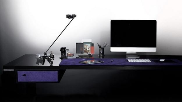 designer furniture made with carbon fiber and suede, office furniture design ideas
