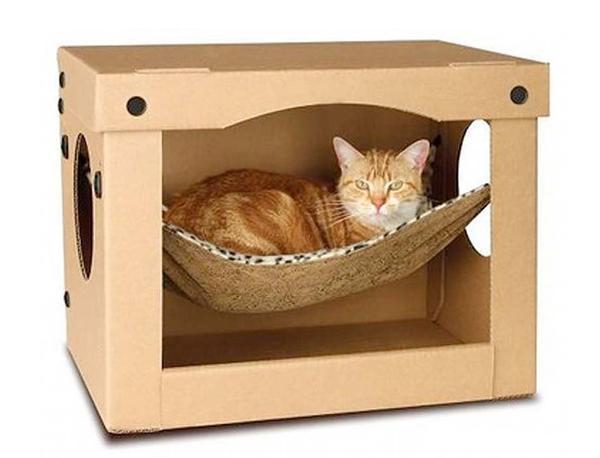 22 cat hammocks giving great inspirations for diy pet for Diy cat furniture