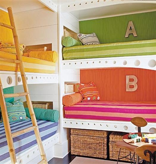 Room For Two Shared Bedroom Ideas: 30 Custom Built In Kids Beds For Unique Room Design To