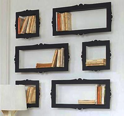 Colorful Frame Wall Shelves, Photo By Casasedecoracoes.blogspot.com