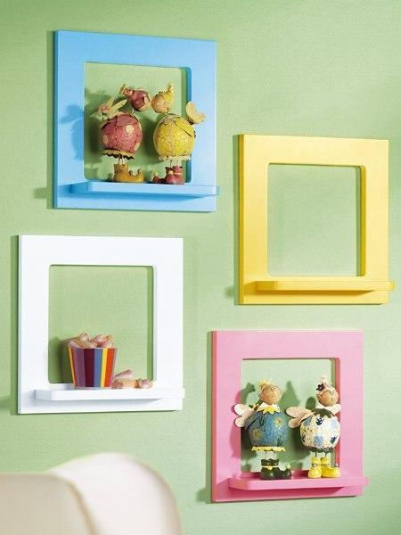 Colorful Frame Wall Shelves Photo By Casasedecoracoes Blo