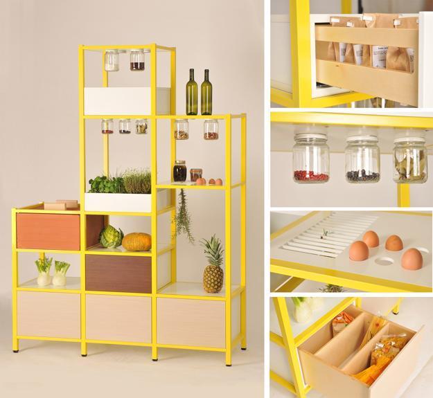 modern kitchen storage furniture, shelving unit