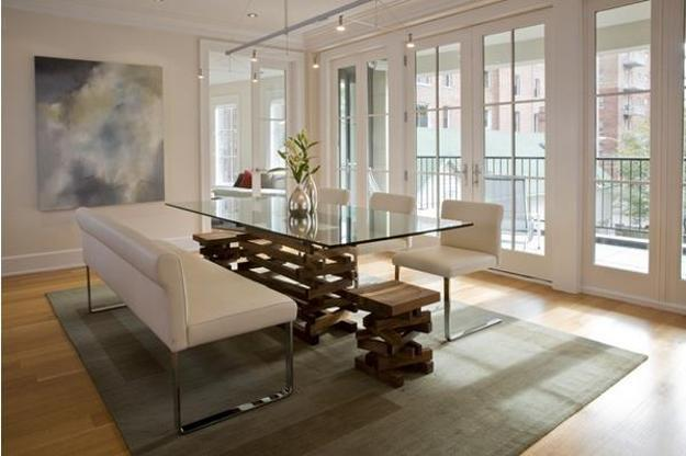 Merveilleux Glass Top Dining Table With Wooden Chairs