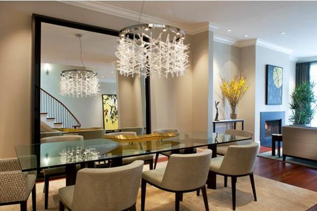& Glass Top Tables Magnifying Beautiful Dining Room Design