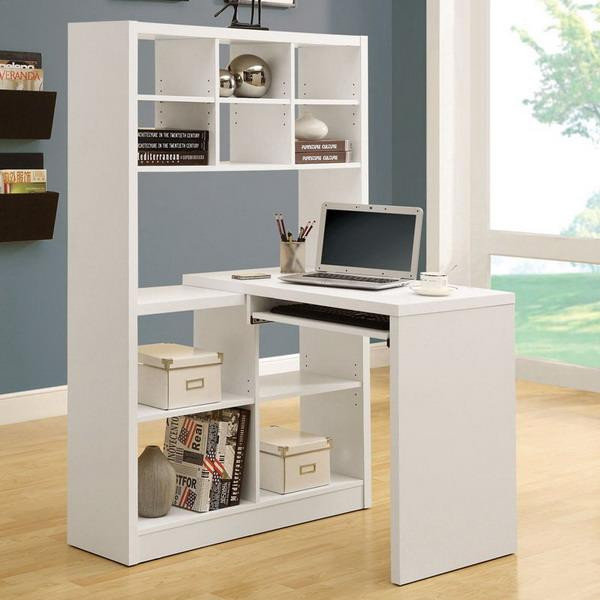 15 Modern Home Office Designs With Corner Furniture In Neutral Colors