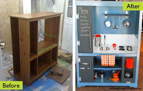 Handmade Play Kitchen Design Recycling Old Furniture Before And After By Mcbabyp Blo Ca