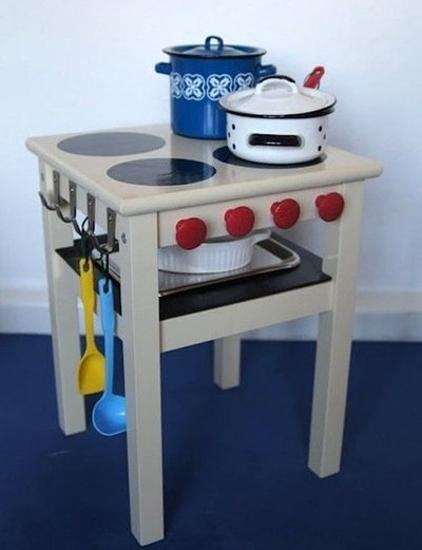Handmade Kids Play Kitchen Designs And Recycling Furniture Ideas