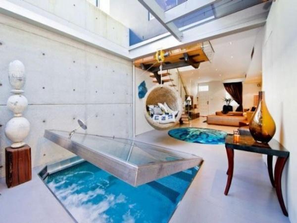Fantastic Bachelor Apartment Ideas Unusual Indoor Swimming Pool Design