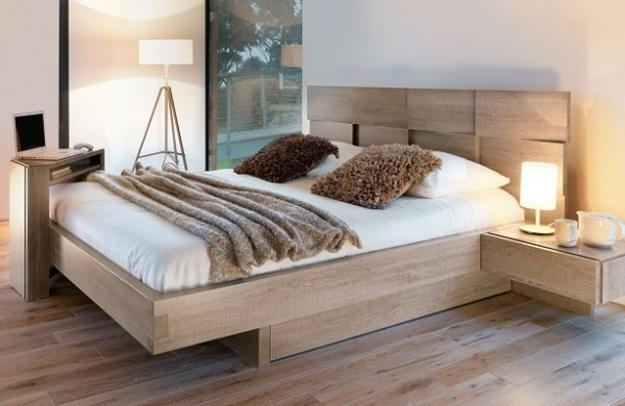 Creative Wooden Bed Headboard Design