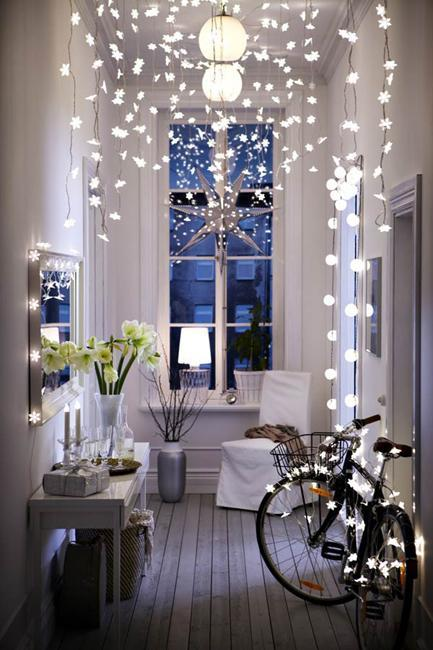 interior decorating with christmas lights - Christmas Lights Interior Decorating