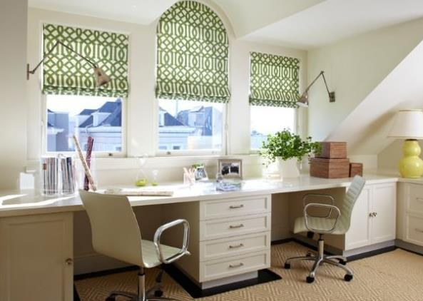 Bright Home Office Design For Two By Charlie Barnett Associates
