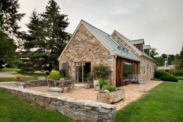 Modern Redesign Of Old Country Home with Antique Stone ...