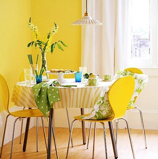 Bright Lemon Yellow Kitchen Paint Design Ideas ~ Bright interior design and home decorating ideas with