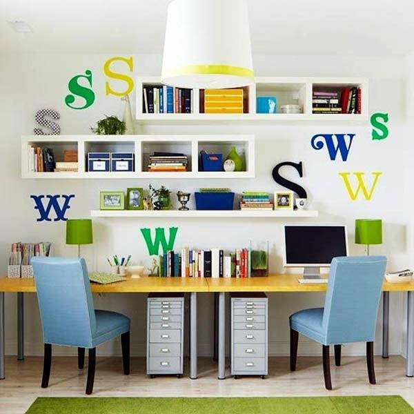 Awesome Small Home Office Designs For Two