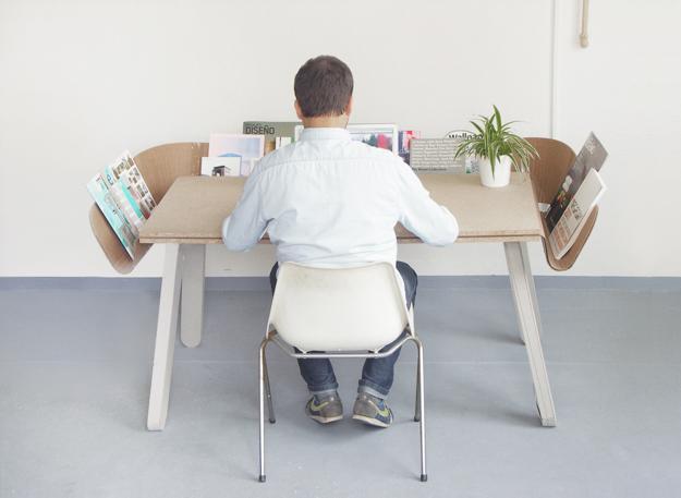 Table Shelf Made With Cardboard Creative And Inspiring Furniture Design Idea