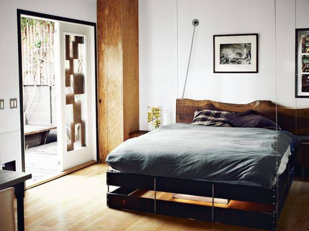 suspended bed design for small spaces
