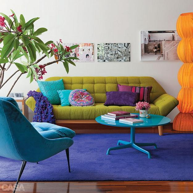Bright Room Colors And Modern Ideas For Decorating Small