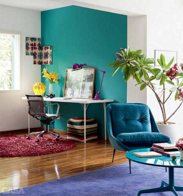 Bright Colored Room Ideas: Bright Room Colors And Modern Ideas For Decorating Small