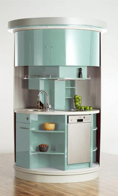 15 modern small kitchen design ideas for tiny spaces for Eat in kitchen designs for small kitchen