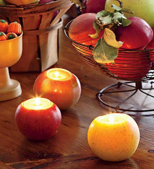 25 Fabulous Thanksgiving Decorating Ideas With Apples And Candles Centerpieces