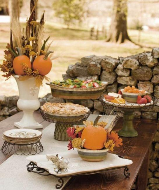 Decorations For Thanksgiving: 30 Ideas For Thanksgiving Decorating In Eco Style Turning