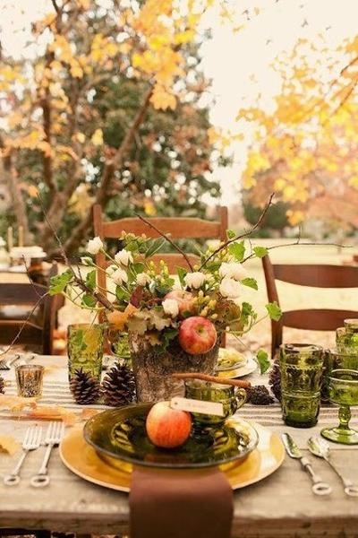 30 Ideas for Thanksgiving Decorating in Eco Style Turning Fall ...