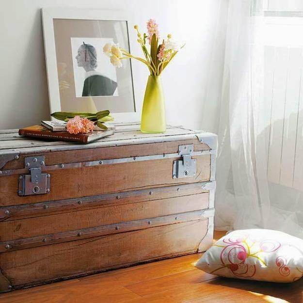 Wooden Trunk Home Decor