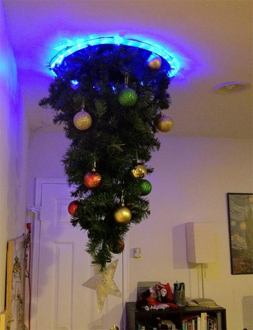 Upside Down Christmas Tree Decorating Ideas.Hanging Upside Down Christmas Trees Reinventing Space Saving