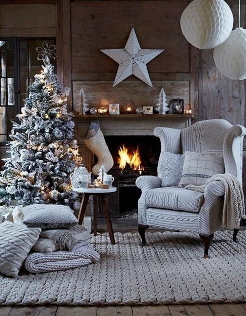 black and white christmas tree decorating ideas - White Christmas Decorating Theme